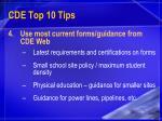 cde top 10 tips18