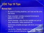 cde top 10 tips25