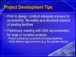 project development tips
