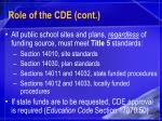 role of the cde cont