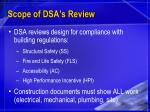 scope of dsa s review