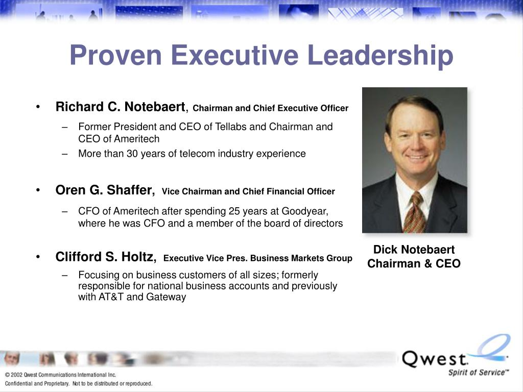 Proven Executive Leadership
