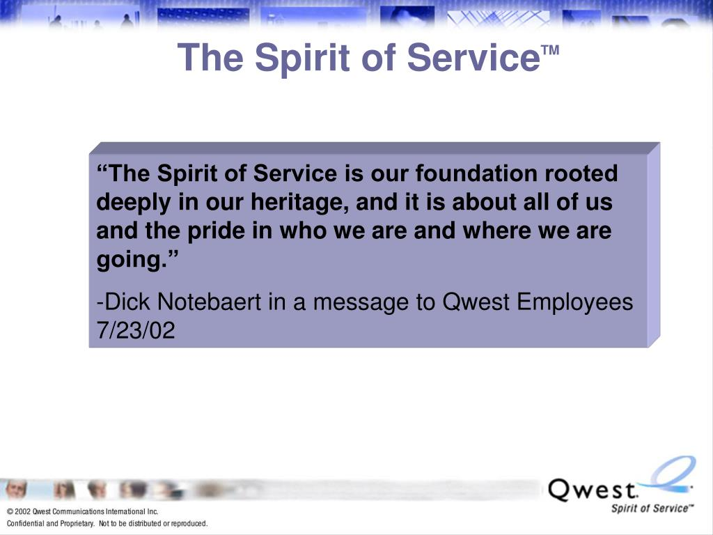 The Spirit of Service