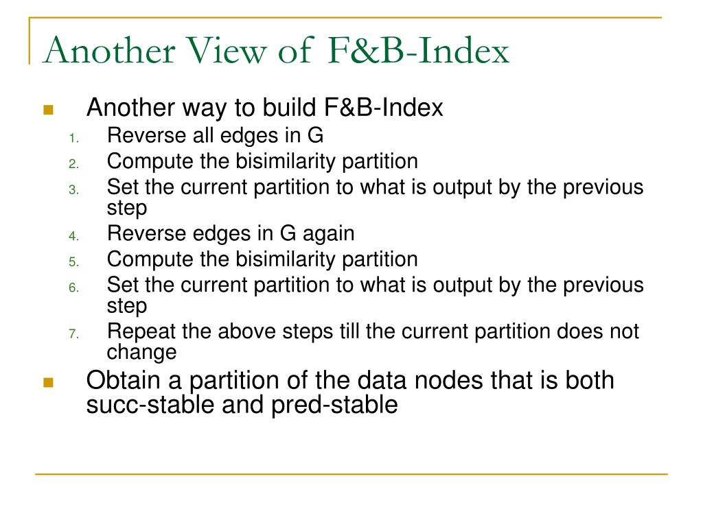Another View of F&B-Index