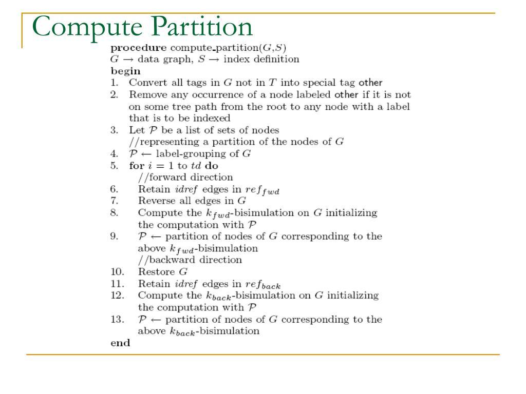 Compute Partition