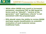 adem comments to docket23