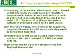 differences in notice from anprm15