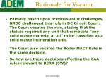 rationale for vacatur