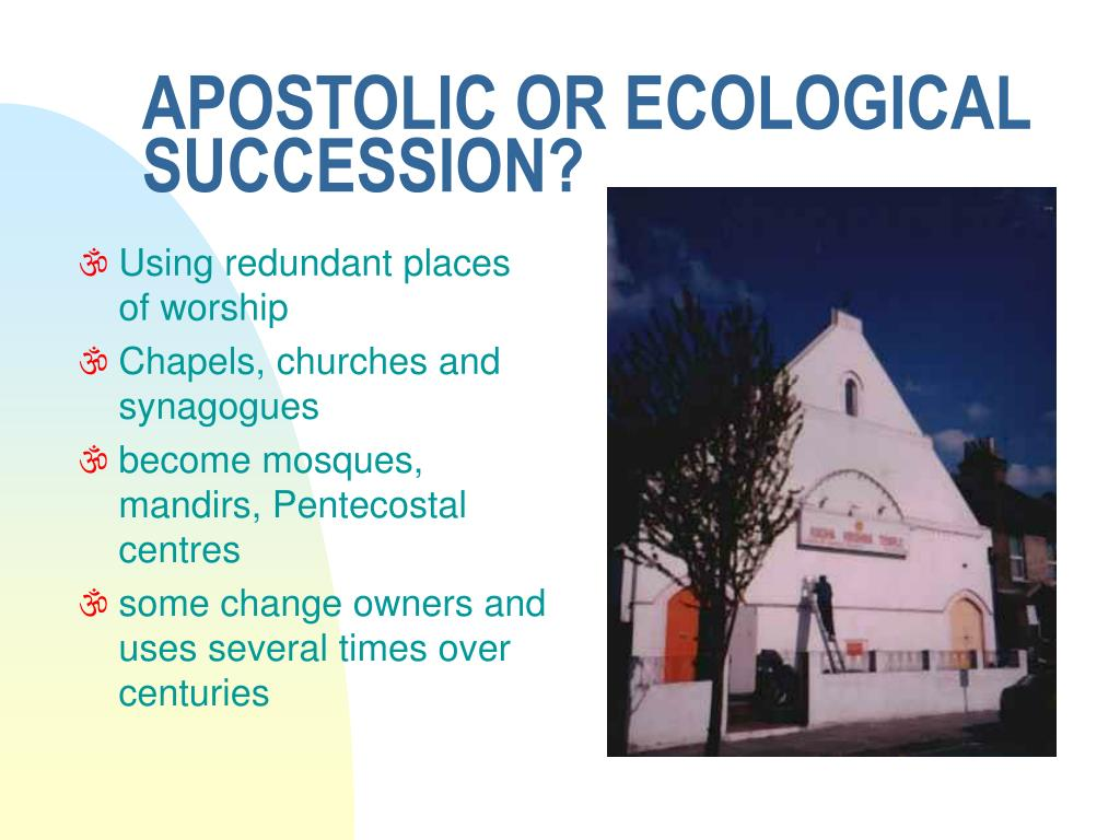 APOSTOLIC OR ECOLOGICAL SUCCESSION?