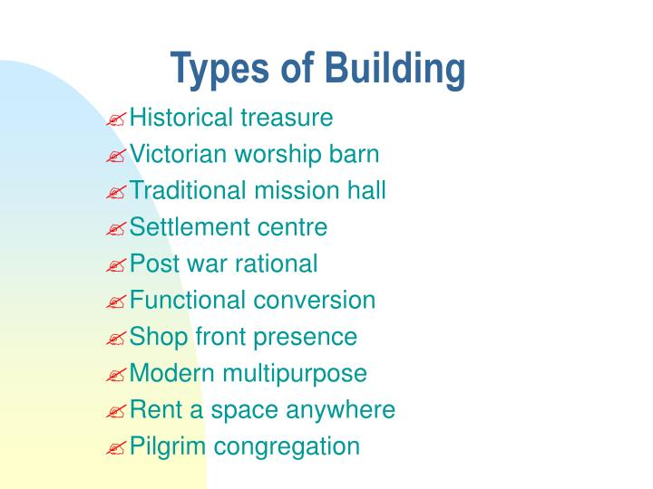 Types of building