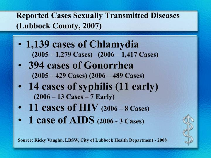 Reported cases sexually transmitted diseases lubbock county 2007 l.jpg
