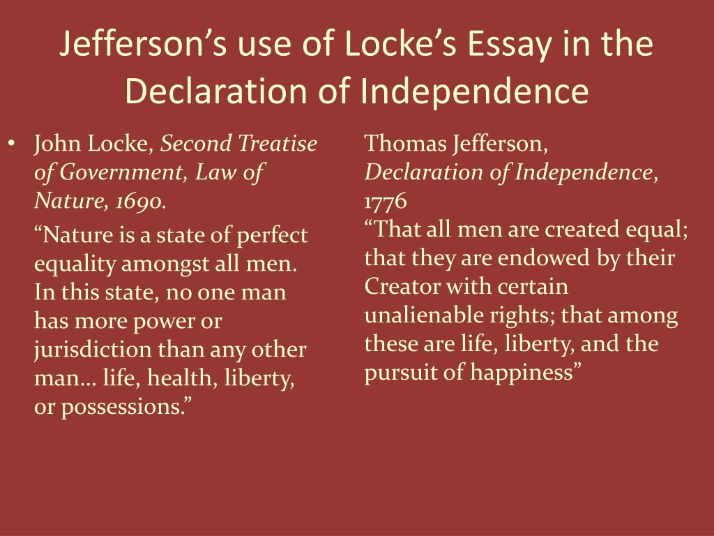 Declaration of independence essays