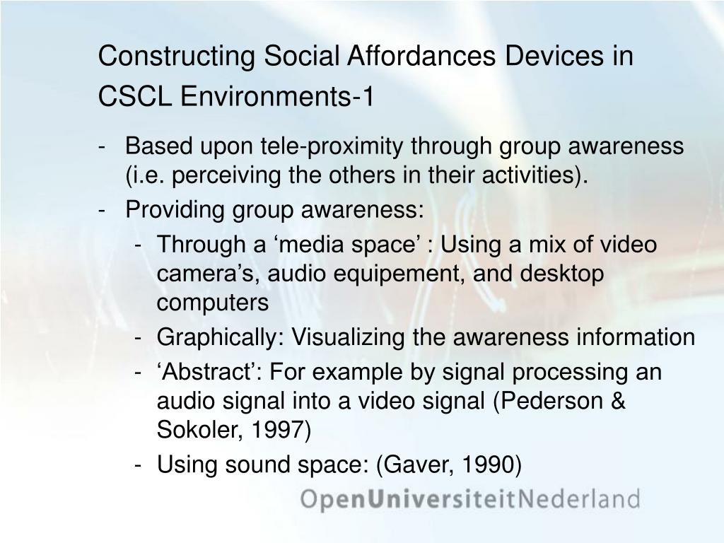 Constructing Social Affordances Devices in CSCL Environments-1