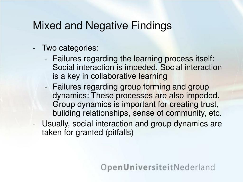 Mixed and Negative Findings