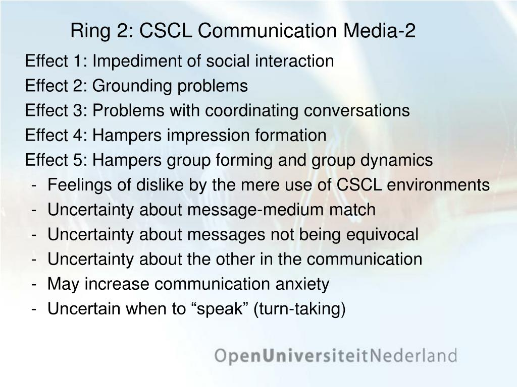 Ring 2: CSCL Communication Media-2