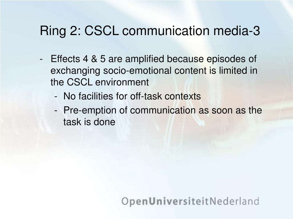 Ring 2: CSCL communication media-3