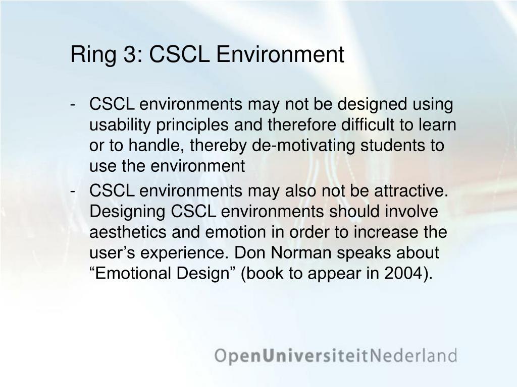 Ring 3: CSCL Environment
