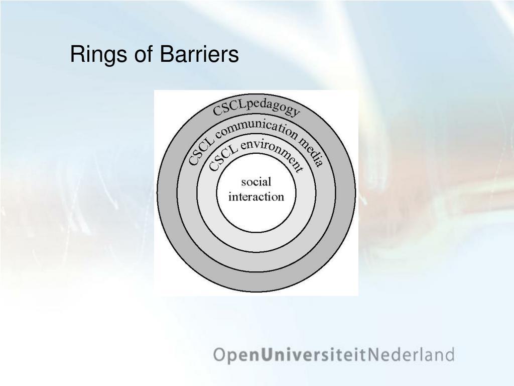 Rings of Barriers