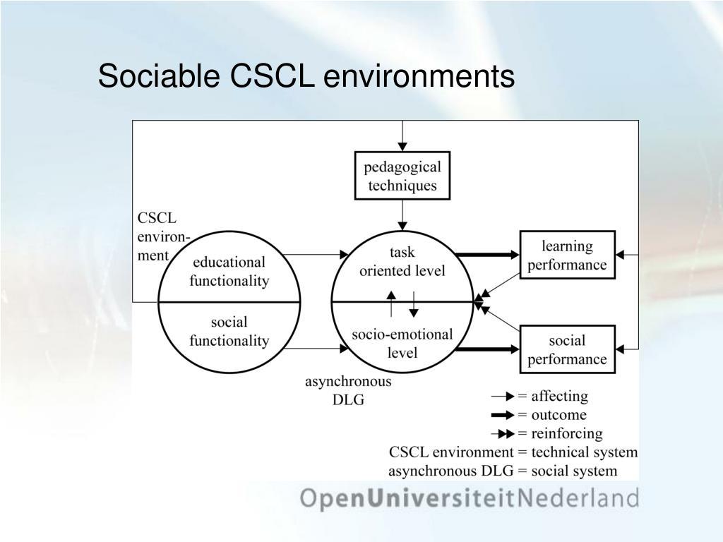 Sociable CSCL environments