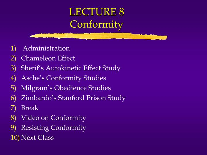 conformity society essay Category: social roles obedience conformity essays title: conformity and obedience in society.