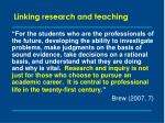 linking research and teaching6
