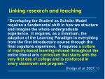 linking research and teaching7