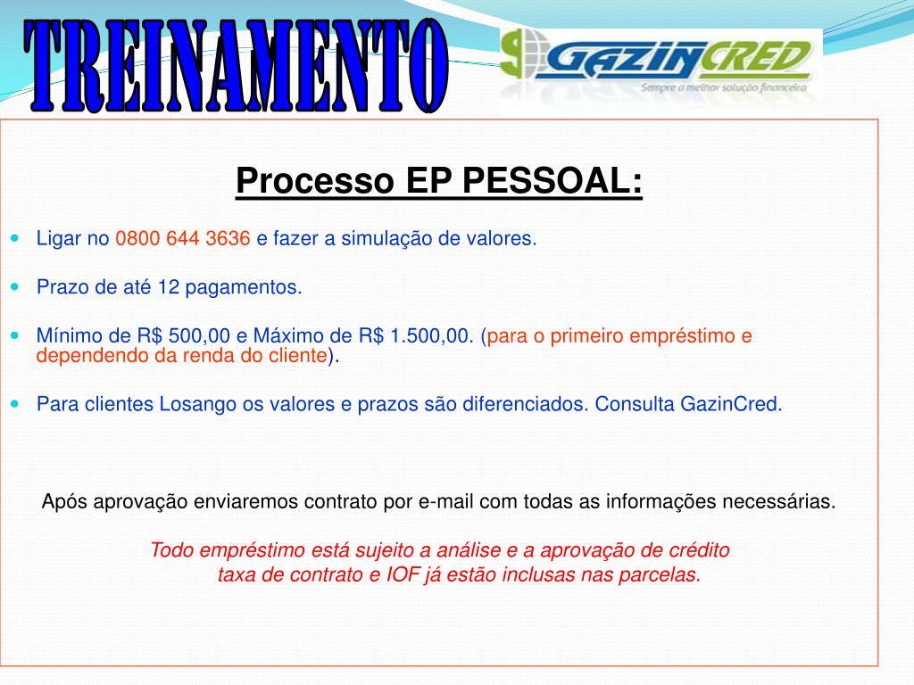 Processo EP PESSOAL: