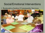 social emotional interventions