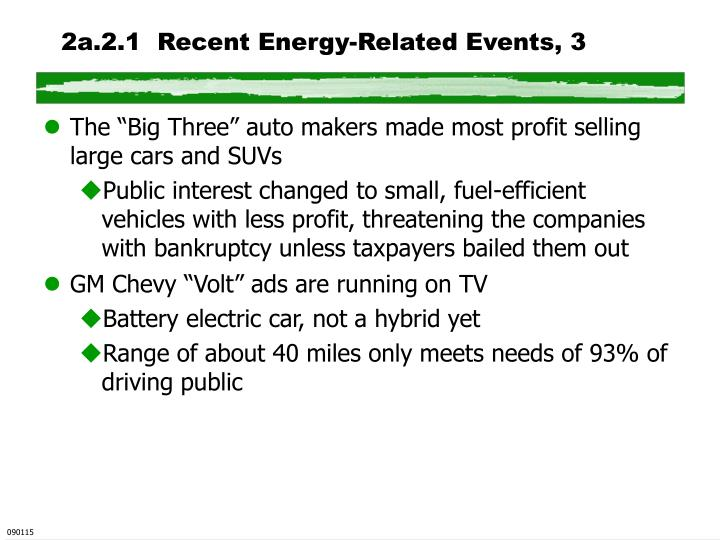 2a.2.1  Recent Energy-Related Events, 3