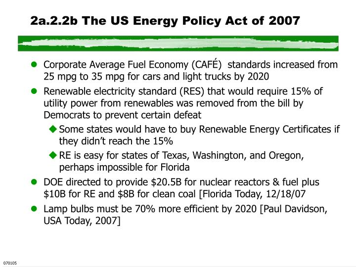 2a.2.2b The US Energy Policy Act of 2007