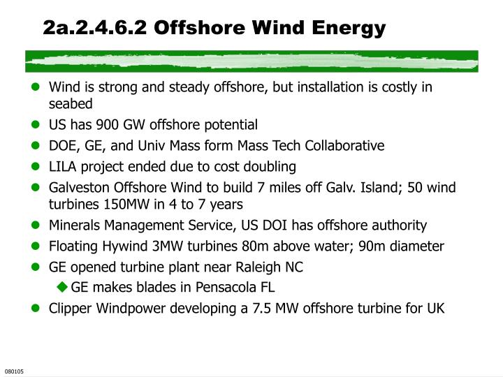 2a.2.4.6.2 Offshore Wind Energy