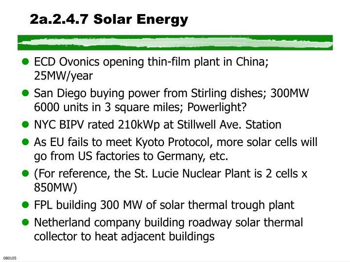 2a.2.4.7 Solar Energy