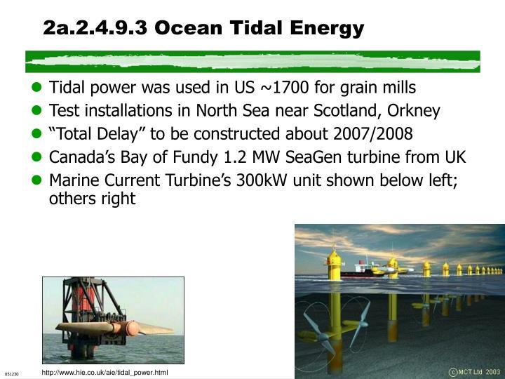2a.2.4.9.3 Ocean Tidal Energy