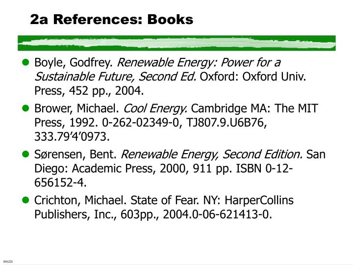 2a References: Books