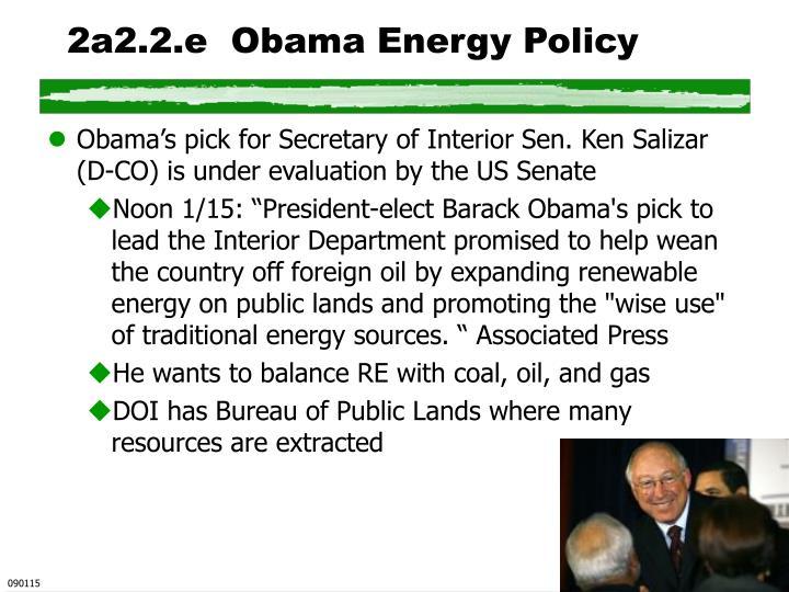 2a2.2.e  Obama Energy Policy