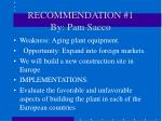 recommendation 1 by pam sacco