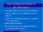 recommendation 2 by pam sacco