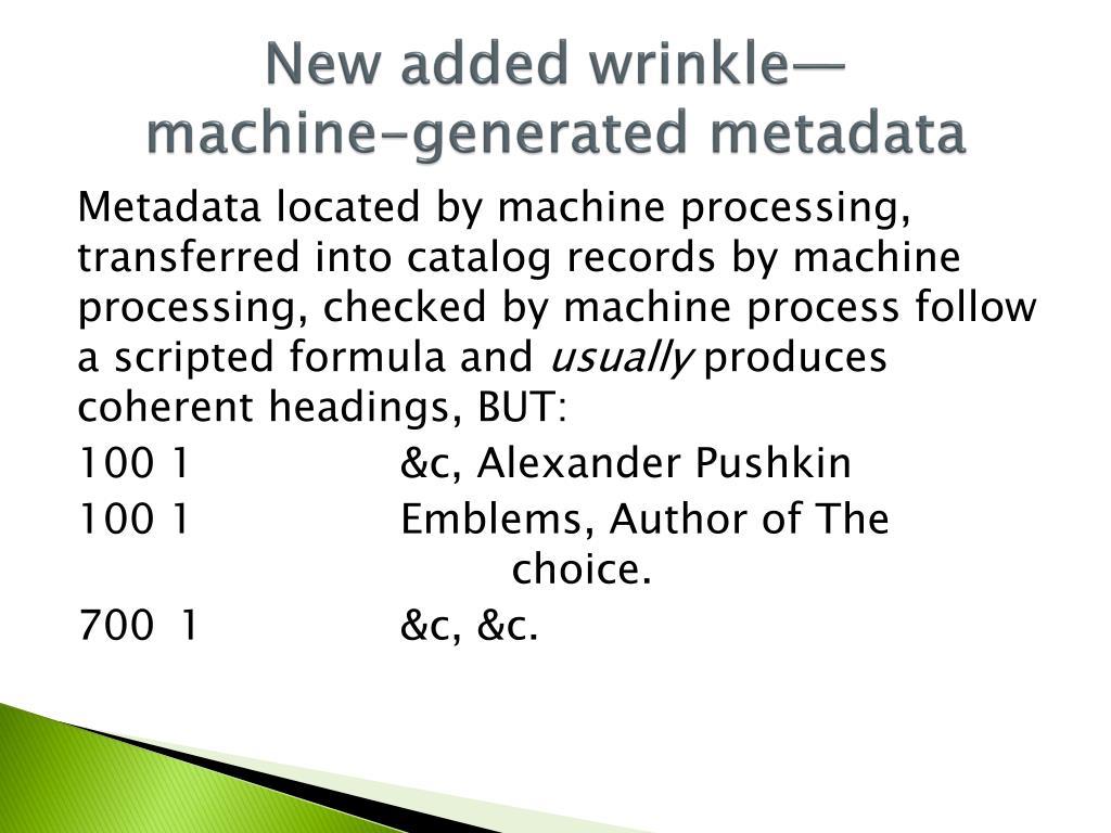 New added wrinkle—