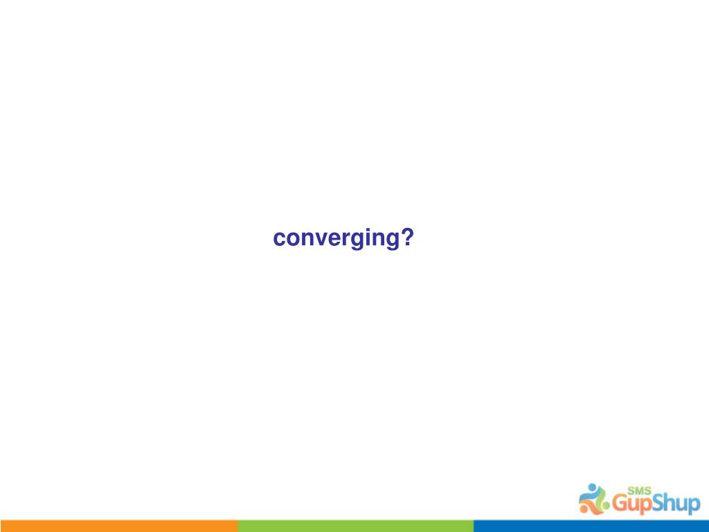 converging?