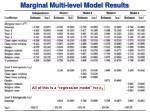 marginal multi level model results