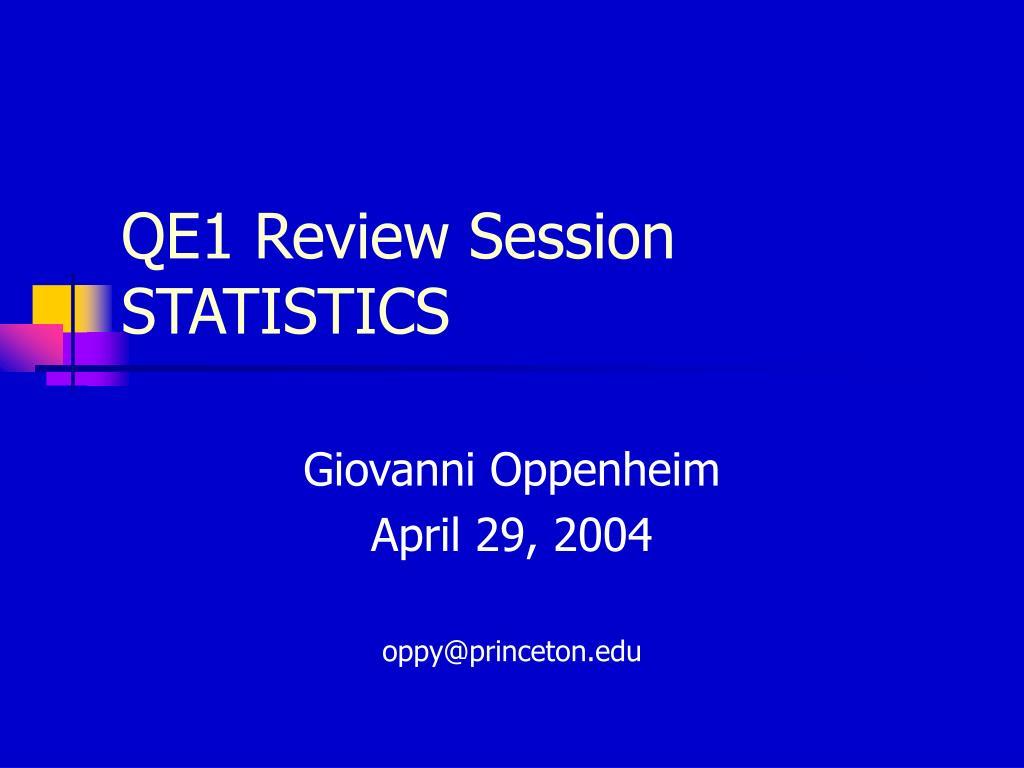 qe1 review session statistics