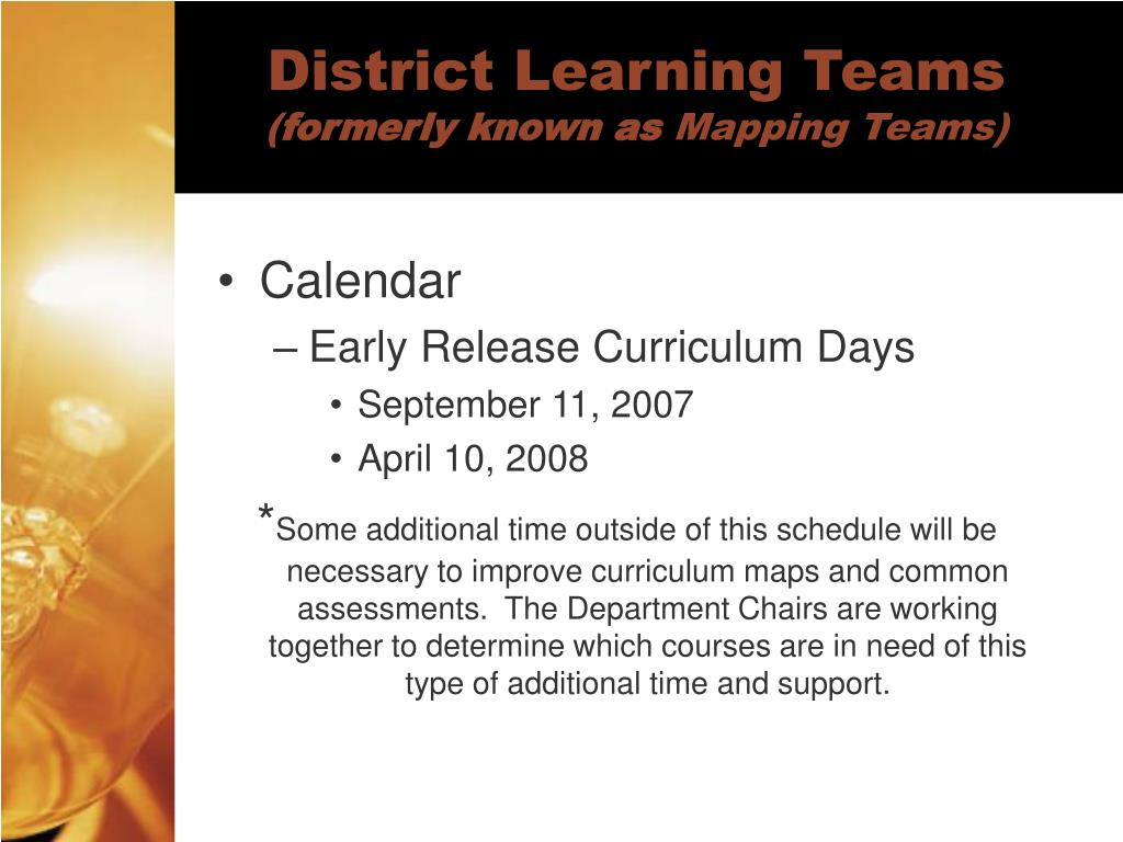 District Learning Teams