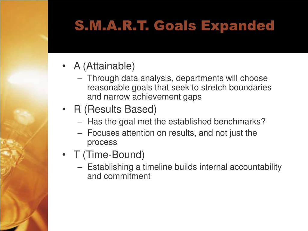 S.M.A.R.T. Goals Expanded