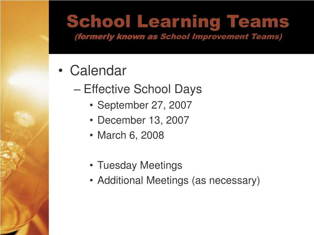 School Learning Teams