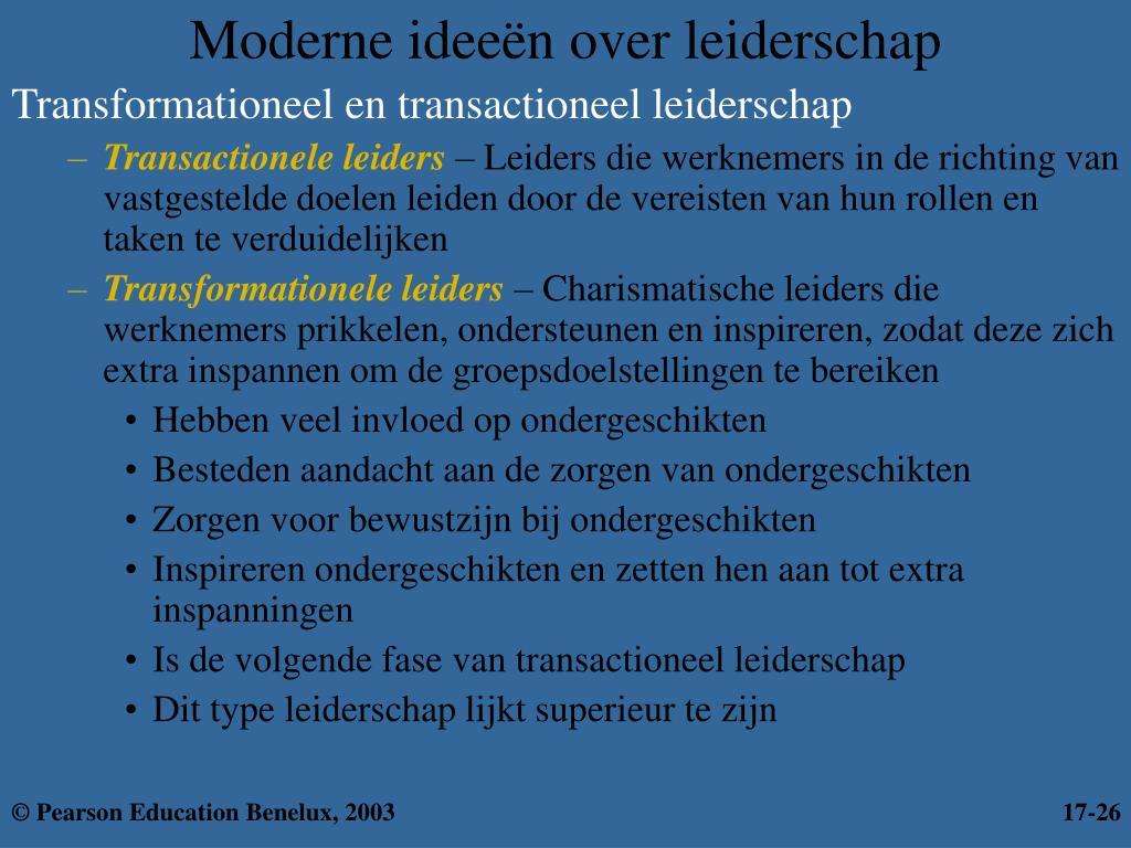 Moderne ideeën over leiderschap