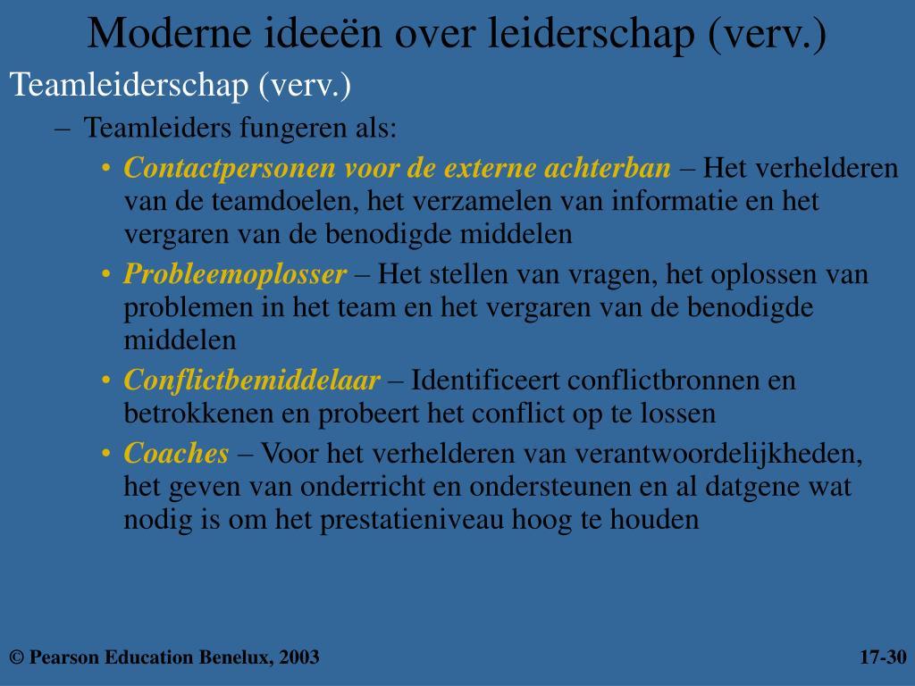 Moderne ideeën over leiderschap (verv.)