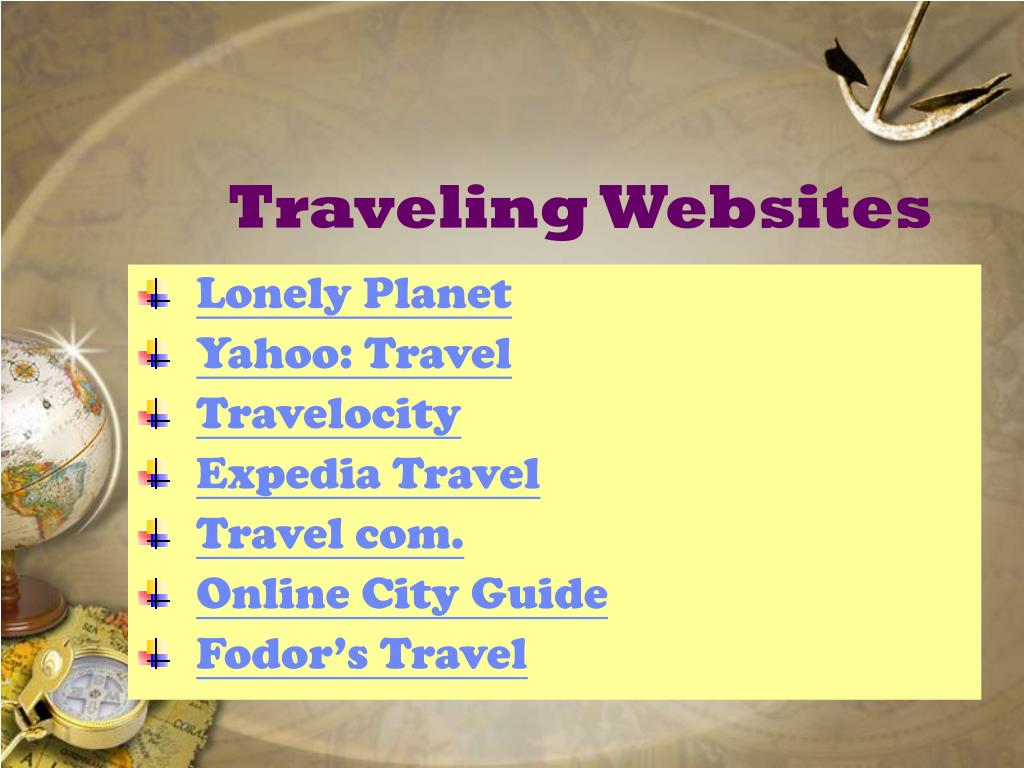 Traveling Websites
