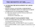 the benefits of mbs continued