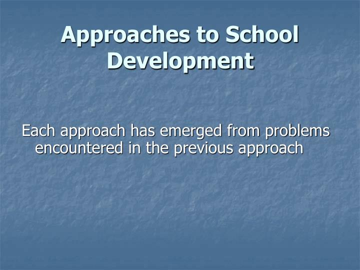 Approaches to school development
