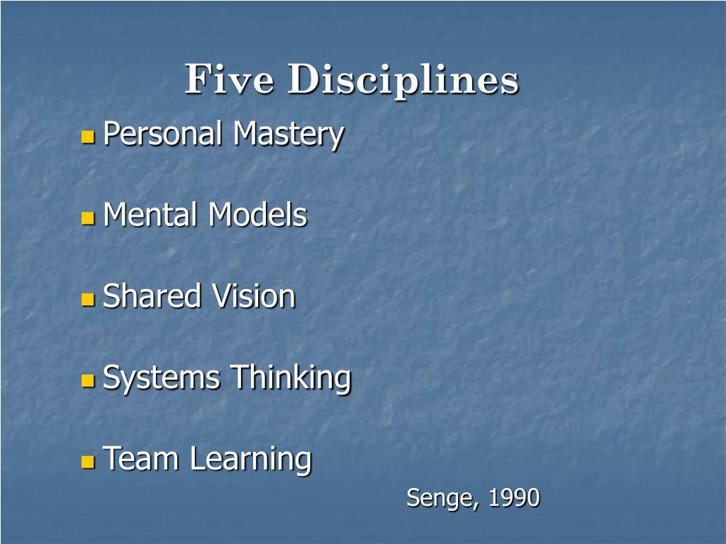 Five Disciplines